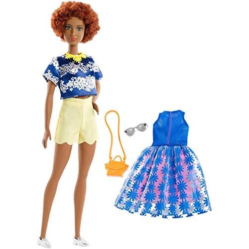 Barbie- Motivo Floreale e Catena con Un Secondo Look Bambola, Multicolore, FRY80