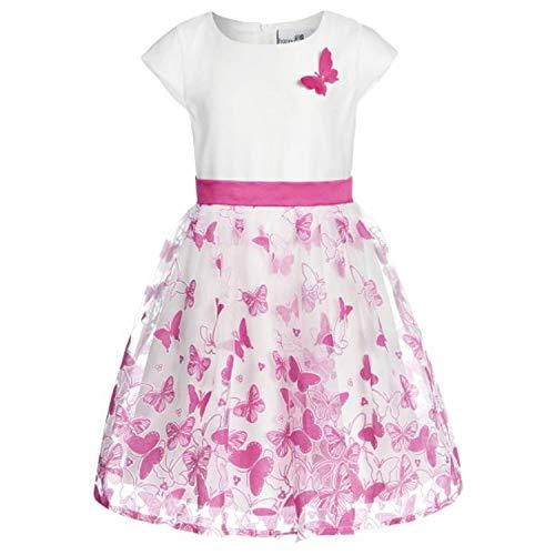 Happy Girls- meisje feestjurk zomerjurk met vlinders, roze - 594116