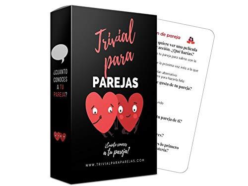 Marta Fedriani |Trivial Parejas Plus (Edición Mejorada) | Juego de Cartas Divertido | ¿Cuánto conoces a tu Pareja?| Regalos para Parejas Novio Novia| Juego de Preguntas para 2| De 2 a 10 Jugadores