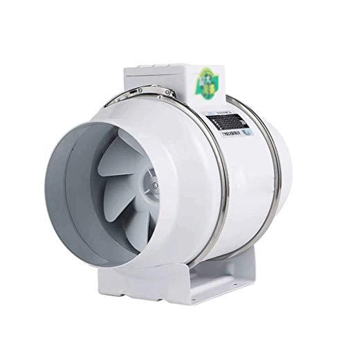 XJJZS Ventilador de conducto, controlador de velocidad ajustable del motor silencioso de ahorro de energía, ventilador de conducto en línea con controlador de velocidad - Ventilador de extracción de v