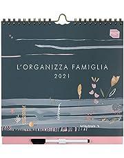 Boxclever Press L'Organizza Famiglia Calendario 2021 con sei colonne. Calendario 2021 da muro, inizia ora e dura fino a Dicembre 2021. Planner settimanale misura 30.5 x 30.5cm