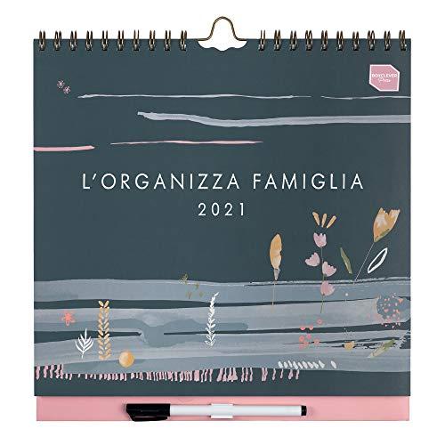Boxclever Press L'Organizza Calendario famiglia 2021 con sei colonne. Calendario 2021 da muro accademico inizia ora e dura fino a Dicembre 2021. Calen