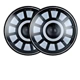 YEXIANG 1pair Feux 50W 75W Voiture LED H4 Accessoires Voiture 7inch Angel Eyes LED H4 Phare for Niva 4X4 Uaz fit for Lada Hunter Hummer (Color : AYellow)