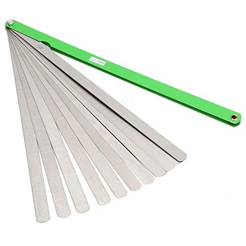 Medidor de espesor de 300 mm 17 cuchillas Herramienta de medición de separación métrica de acero inoxidable 0.02 mm-1 mm