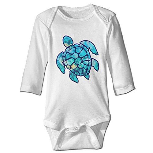 Klotr Babyspielanzug, Cyan Dream Unisex Langarm Baumwolle Body Spielanzug Strampler Kleidung