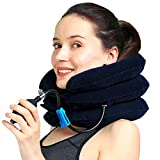MEDIZED® Cervical Neck Traction Device & Collar Brace, Inflatable & Adjustable Neck Support Pillow is Ideal for Spine Alignment & Chronic Neck Pain Relief