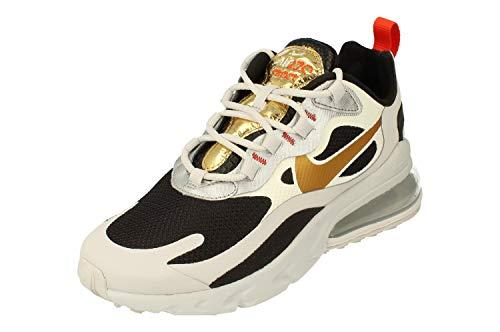 Nike Air Max 270 React Damen Running Trainers CT3433 Sneakers Schuhe (UK 4 US 6.5 EU 37.5, vast Grey metallic Gold Black 001)