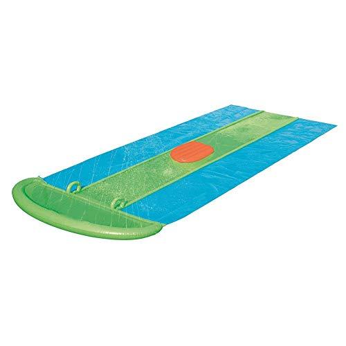 Tobogán XXL Water Slide Wasserbahn 549 cm L x 208 cm W con boquillas de chorro de agua y Aufblasbarem Crashpad, Slip Slide Play Center para tres personas