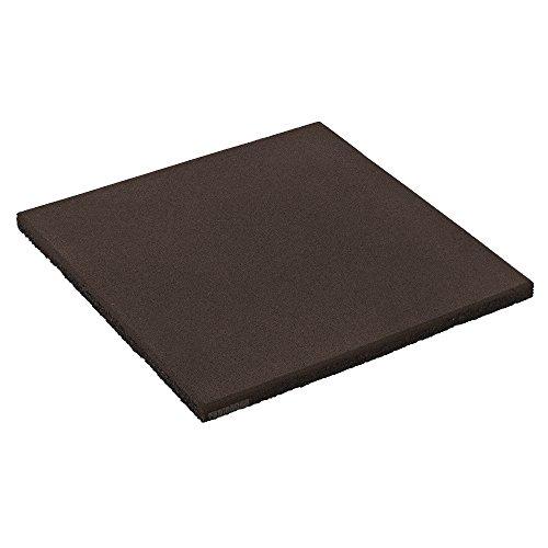 FATMOOSE Sicherheitsmatte SoftSafe L Fallschutzmatte Gummimatte, 50x50x2,5cm, schwarz, Gummi