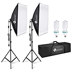 【High Quality Material】The softbox is made of high-quality PET and maintains good reflective performance in a relatively closed softbox environment and under long-term bulb heating. Meanwhile, the softbox does not release unpleasant odours when the b...