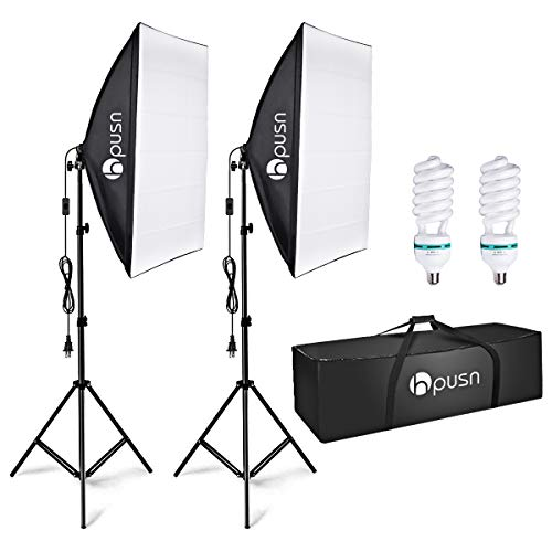 HPUSN Softbox Lighting Kit Profe...