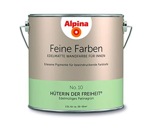 Alpina 2,5 L. Feine Farben, Farbwahl, Edelmatte Wandfarbe für Innen (No.10 Hüterin der Freiheit - Ed
