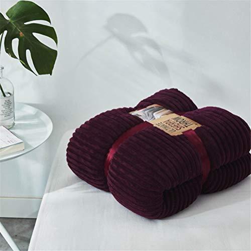 ADGAI Flanell Fleecedecke Hochwertige Plüschdecke Wendbare weiche und kuschelige Decke für das Schlafsofa,Lila,150x200cm