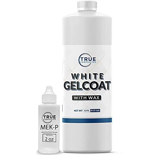 True Composites White Gelcoat Waxed-Isophthalic NPG Fiberglass Marine...