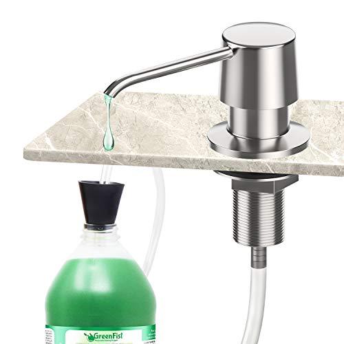 Zalava Seifenspender für Küchenspüle, Spülmittelspender aus Edelstahl, 1.2m Verlängerungsschlauch Set Nachfüllbar für Küche, Dispenser Seifen Lotion Spender Dispenser für Küchenspüle