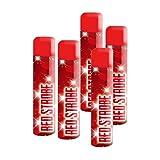 5 Stück h2i Red Strobe Handfackel Bengalo Pyro Rauch Vulkan Lanzenlicht Stroboskop Fontäne Party Feuerwerk Rauchfarbe rot