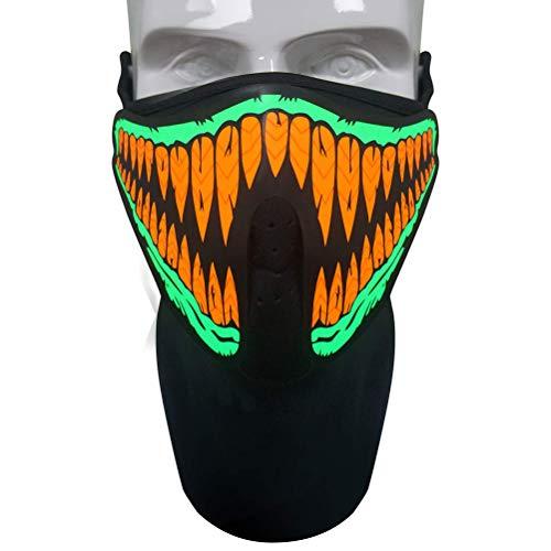 Mallalah Máscara de música LED, máscara reactiva de Sonido para la...