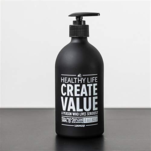YUXINYAN Soap Dispenser 250 ml 500 ml baño dispensador de jabón champú Mano Lavado Botella líquido jabón acondicionador Vidrio Botella de Almacenamiento Dispensador Jabon Baño (Color : 500ml A)