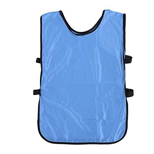 SALUTUYA Paquete de 12 Chalecos de Equipo cómodos y Transpirables con Correa elástica en Ambos Lados, para Baloncesto(Sky Blue)