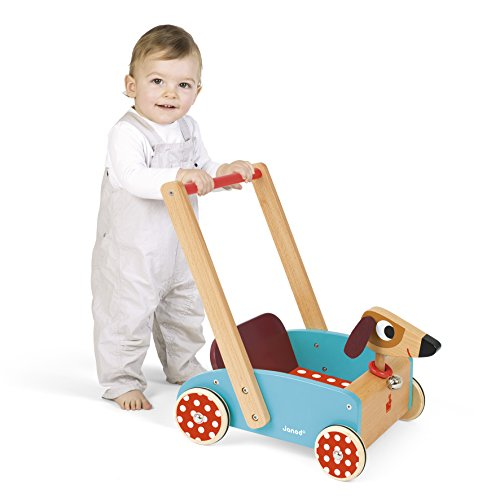 Janod J05995 – Lauflernwagen aus Holz, Crazy Doggy - 2