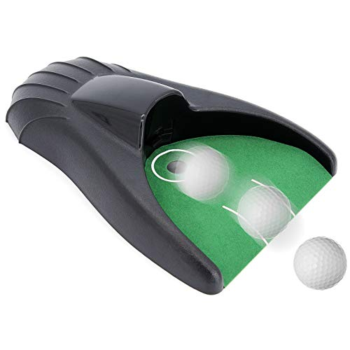 ShawFly Neue verbesserte Golf Putting Trainer Golf Putting Maschine Automatische Putt Return Training Ball Kick Back Cup Gerät für Golfübungen Indoor Outdoor Yard Office
