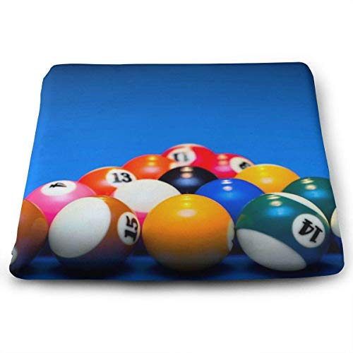ADGoods Quadratisches Sitzkissen Triangle Billiards Seat Cushion Pads Memory Foam Chair Pad Reversible Square Seat Cover Delicate Printing