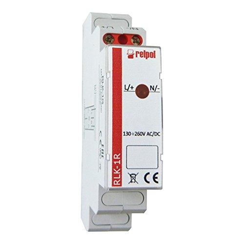 Leuchtmelder 1 Phasen rot Kontrollleuchte Phasenprüfer LED RLK-1R Relpol 8728