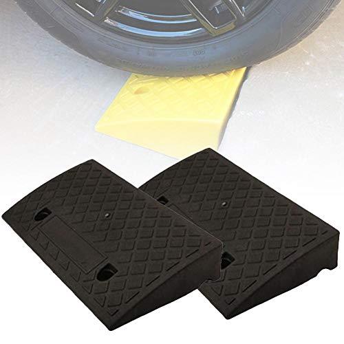 hook.s 2er-Pack Hochleistungs-Gummi-Bordsteinrampen, tragbare Kunststoffschwellenrampen für Wohnwagen mit Wohnwagen, Zugang für Rollstuhlfahrer, 50 x 27 x 7 cm