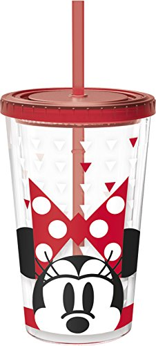 Unbranded 8013668 Minnie Fashion beker koffie ijs kunststof/onbreekbaar acrylnitril rood 10 x 10 x 24,2 cm