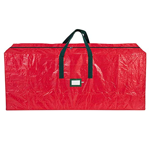 Gallity Christmas Tree Storage Bag,Heavy Duty Artificial Tree Storage Bag, Large Capacity Xmas Tree Bag with Durable Reinforced Handles,Waterproof,Dust, Moisture (48'x 15' x 20', Red)