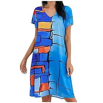 iQKA Sunflower Dress Peasant Dress for Women Long Sleeve Wrap Dress Flowy White Dress Blue,5XL