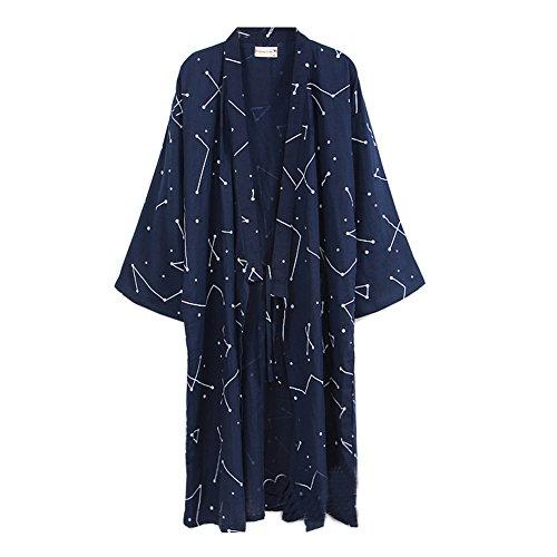 Fancy Pumpkin Japanische Männer Robe Baumwolle Morgenmantel Kimono Pyjamas Nachthemd [# 0A Größe L]