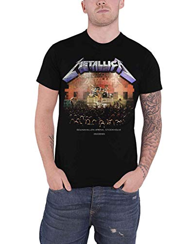 Metallica Official T Shirt, Stockholm '86 Solnahallen Arena, S to XXL
