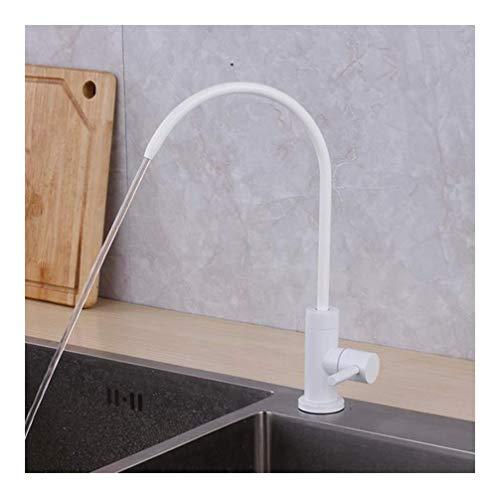 Wit/zwart Drinkwater Kraan Filter 304 Stainless Steel Voedsel Material Deck Installatie Single Cold kraan Kitchen for Kitchen (Color : A)