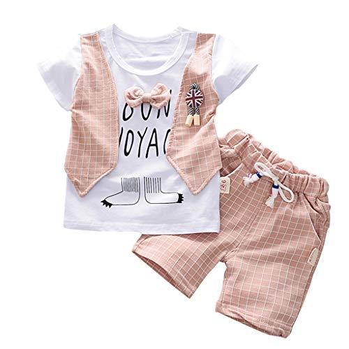 Julhold Peuter Baby Jongens Leuke Mode Gentleman Bow Slim T-Shirt Katoen Tops Shorts Broek Outfits Kleding Set 0-3 Jaar