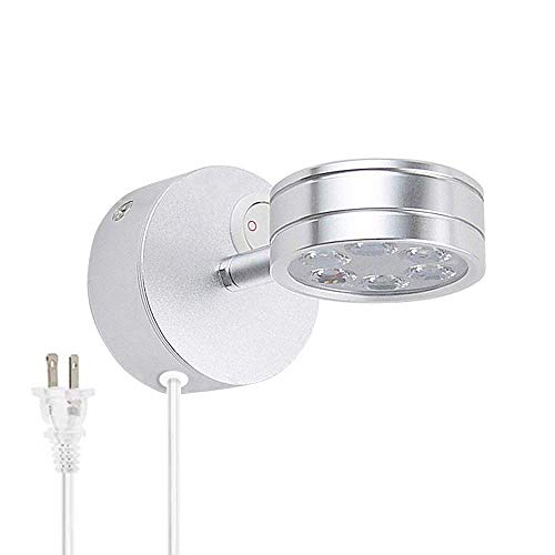 Lysed Flexible LED Wall Mount Lamp Plug in Light,3W Three Color Warm Light-White Light-Natural...