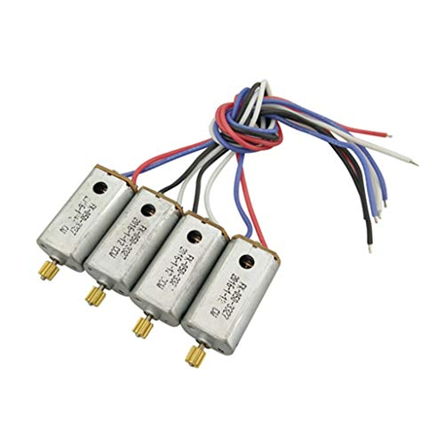 Sdoveb 4Pcs CW CCW Motor for MJX X101 2.4G RC Quadcopter Drone Spare Parts (Silver)