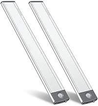 LED Under Counter Closet Lighting, Motion Sensor Cabinet Light, Wireless USB Rechargeable Kitchen Night Lights,Battery Powered Operated Light,Uniform Light/Wardrobe,Closets,Cabinet,Cupboard(2 Pack)