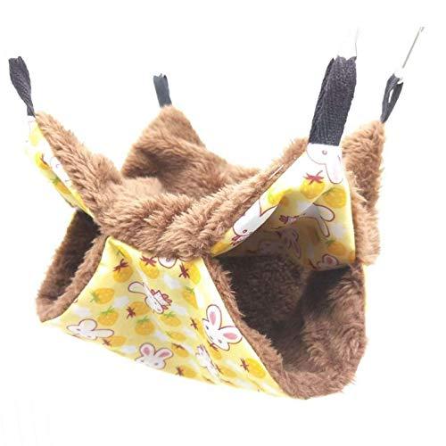 Brownrolly Warmes, doppellagiges Haustier-Hängemattenbett, Katzen-Schlafsack, weiche Schlafunterlage für Kätzchen, Frettchen, Kaninchen, Ratten