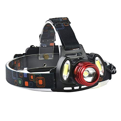 T6 LED Lámpara De Cabeza con Cabeza A Prueba De Agua Linterna Frontal Recargable, Linterna LED