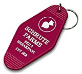 Vintage Hotel Motel Keychain (Beet Red Schrute Farms)