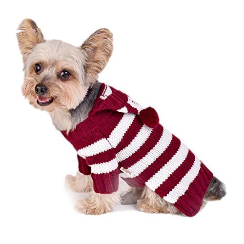 Stinky G Green Stripe Hoodie Dog Sweater Size #10