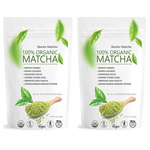 Starter Matcha USDA Organic Green Tea Powder - Culinary Grade 2x 12oz
