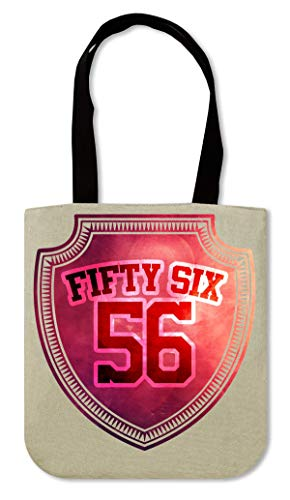 Fifty six 59 Badge Swag series Cool numbers Phrases Canvas Einkaufstasche