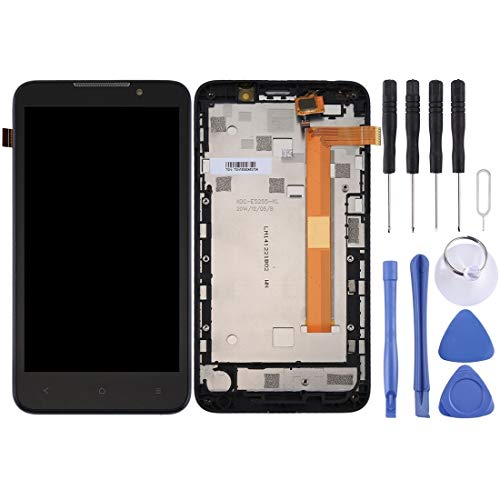 Pk1ftd Pantalla LCD y digitalizador Asamblea con Marco Completo for HTC Desire 516/316 (Negro) Repuestos (Color : White)