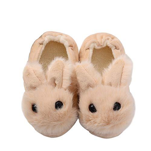 KVbaby Enfants Pantoufles Mignon Anti-dérapant Pantoufles/Mules pour Coton Semelle Souple pour Maison Chaussures Hiver Chaud Chaussons 23/25 EU (Fabricant:15-16/S)