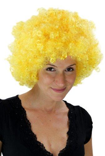 Peluca amarilla con rizos