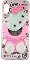 Anvika Redmi Y3 Mirror Kitty Cover   3D Cartoon Design Covers for Girls   Shockproof & Anti-Scratch   Soft Silicone Rubber Back Cover for Redmi Y3 - Pink