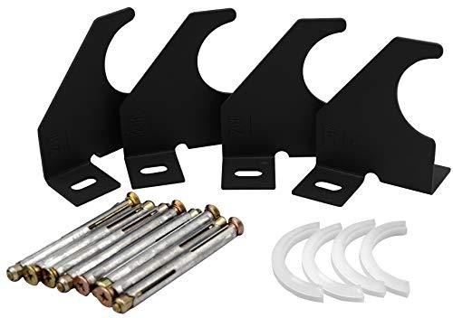 Universal-Heizkörper-Halterung, vertikale Säule, einarmig, 75 mm, schwarz