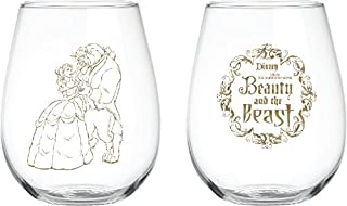 Disney Collectible Wine Glass Set (Beauty & The Beast)